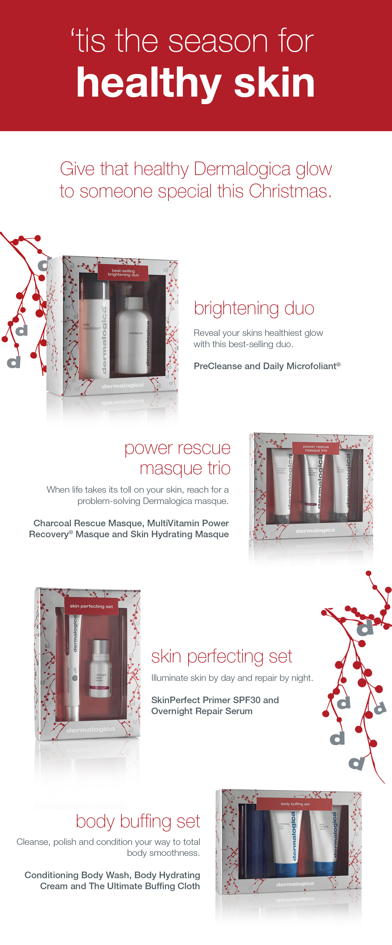 Holidays Set with Body Buffing Set E-Blast