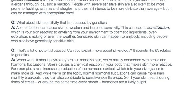 Your sensitive skin questions, answered